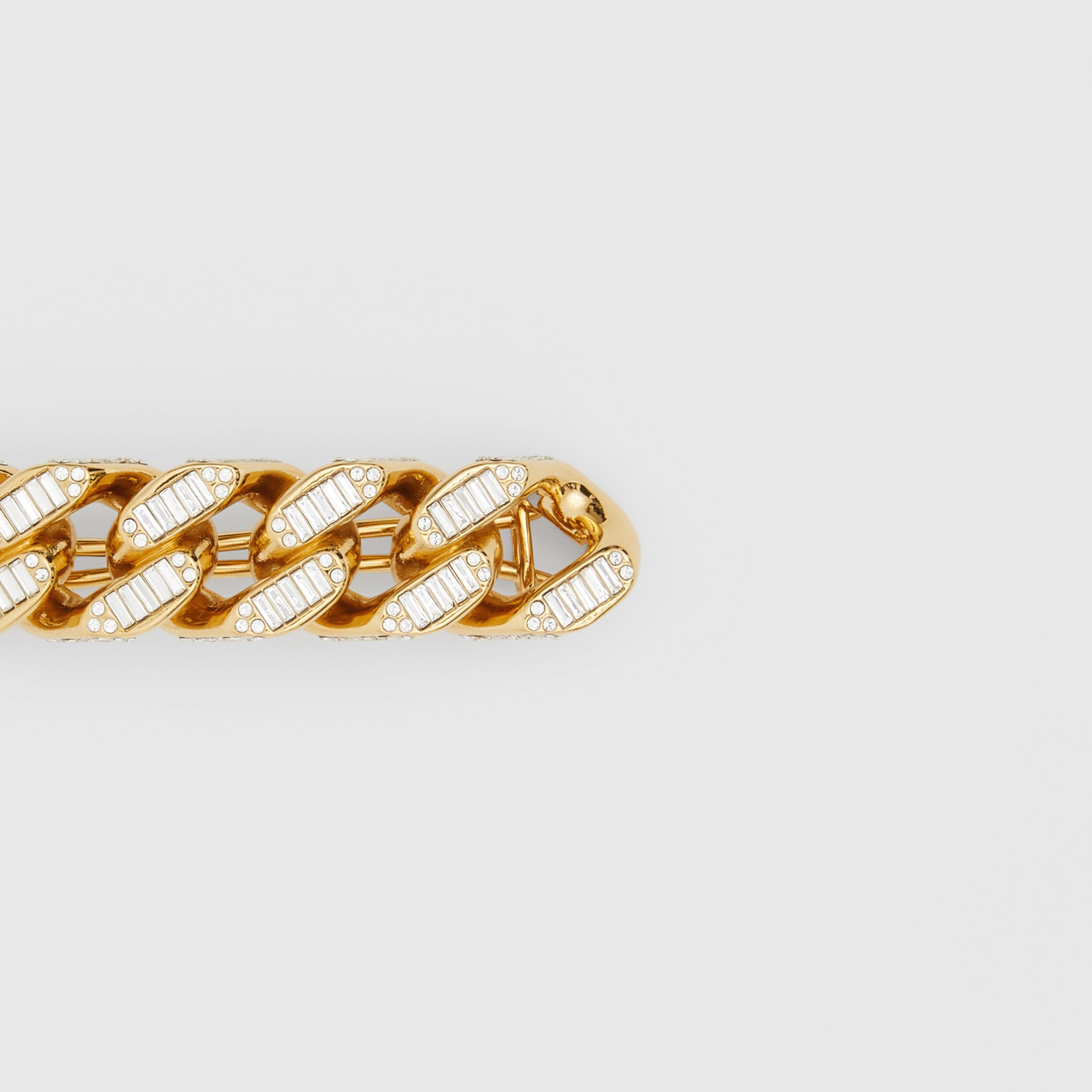 Crystal Gold-plated Chain-link Hair Clip in Light - Women | Burberry - 2