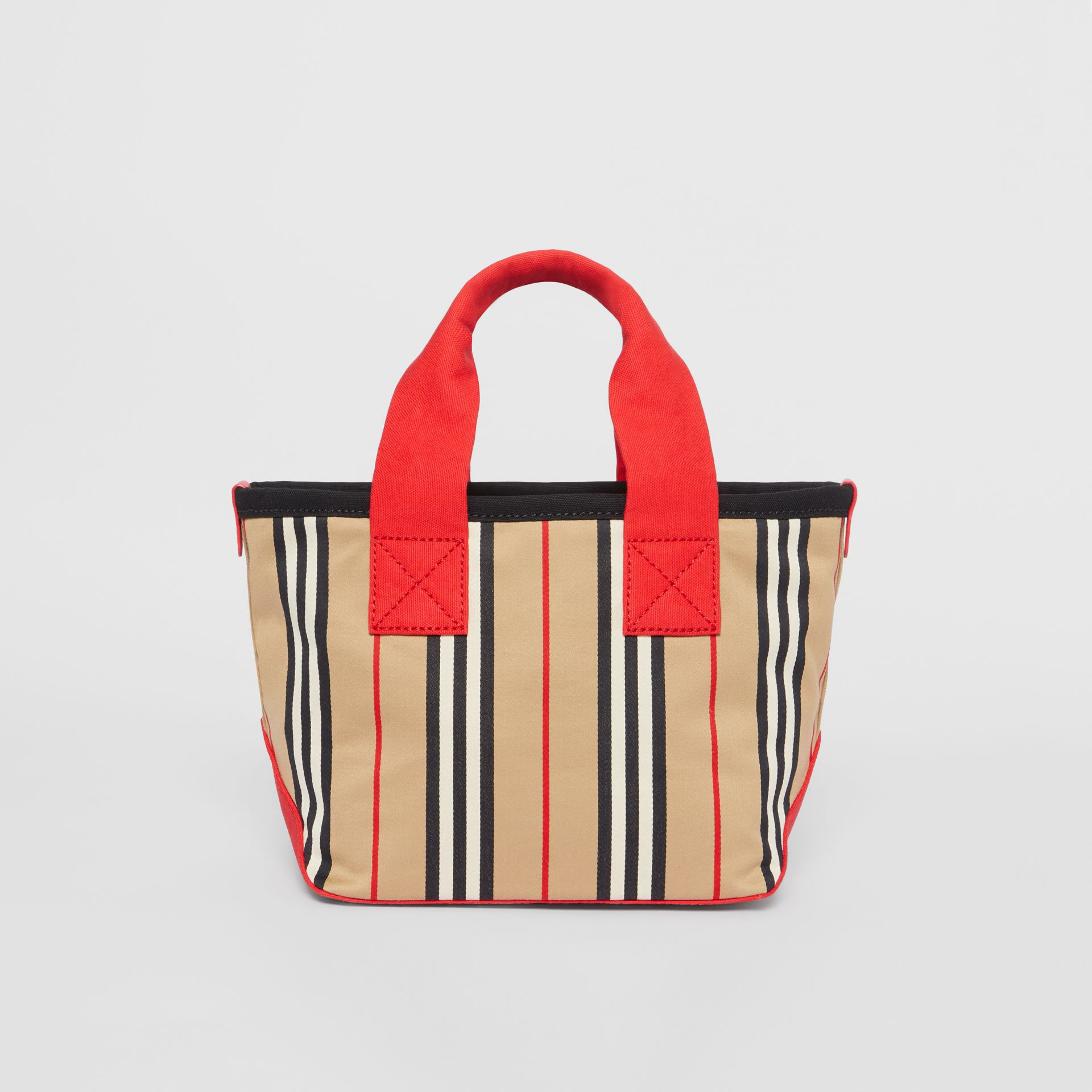 Icon Stripe Cotton Tote Bag in Honey - Children | Burberry United Kingdom - gallery image 5