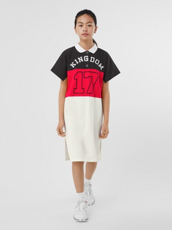 킹덤 프린트 코튼 저지 폴로셔츠 드레스 (블랙)