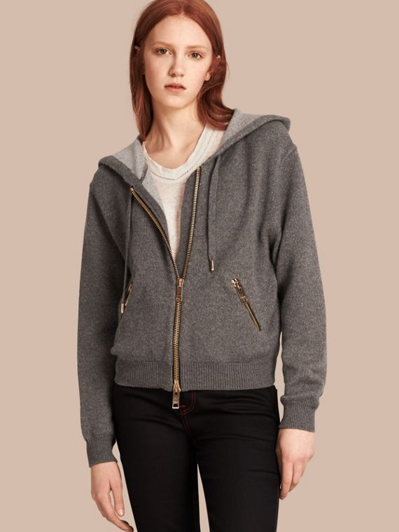 Hooded Cashmere Cotton Jacket