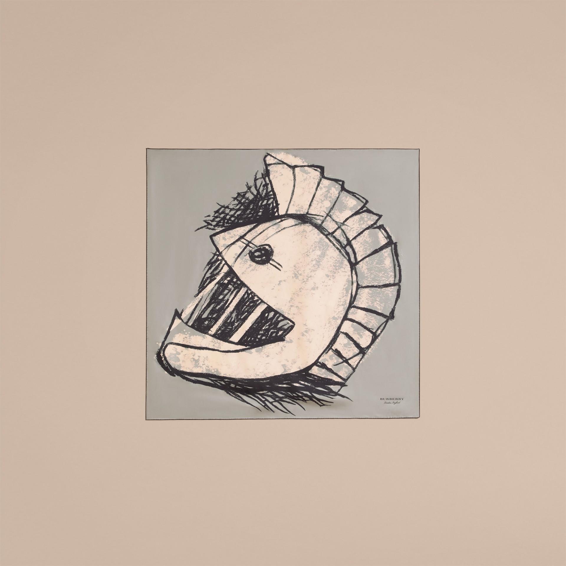 Pallas Helmet Motif Silk Square – Small - gallery image 5