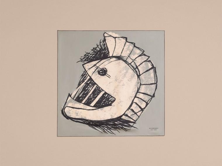 Pallas Helmet Motif Silk Square – Small - cell image 4