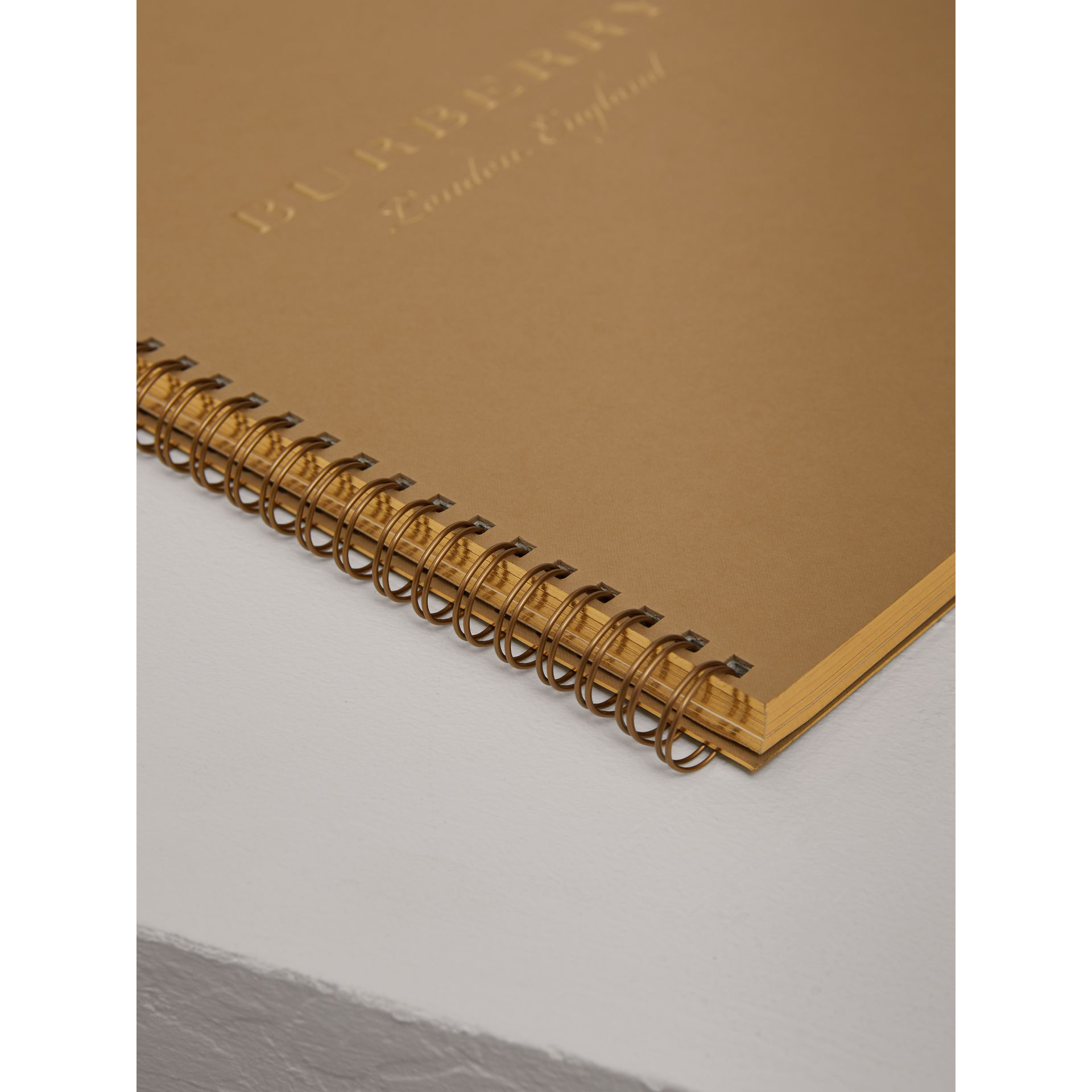A4 Notebook Refill in Honey | Burberry United Kingdom - gallery image 1