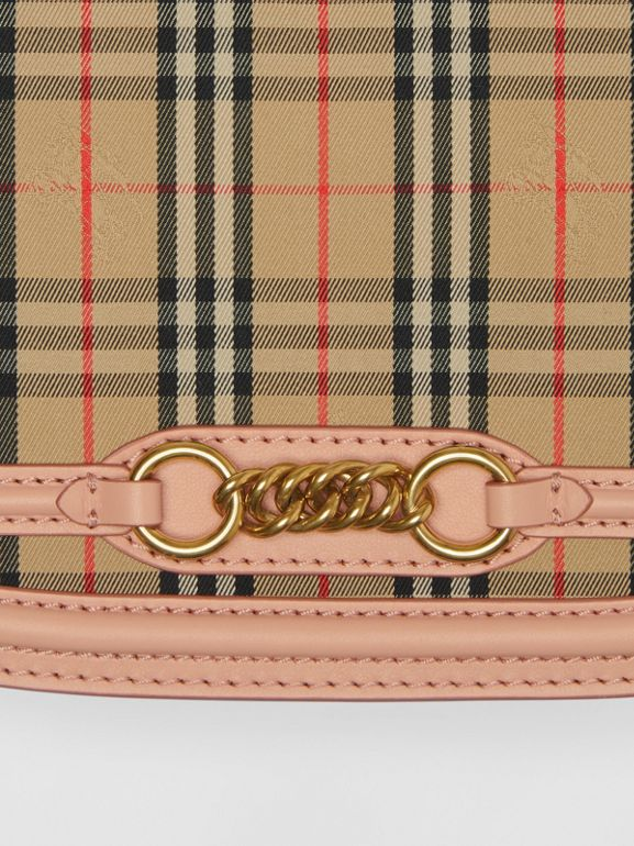The 1983 Check Link Bag with Leather Trim in Peach - Women | Burberry - cell image 1