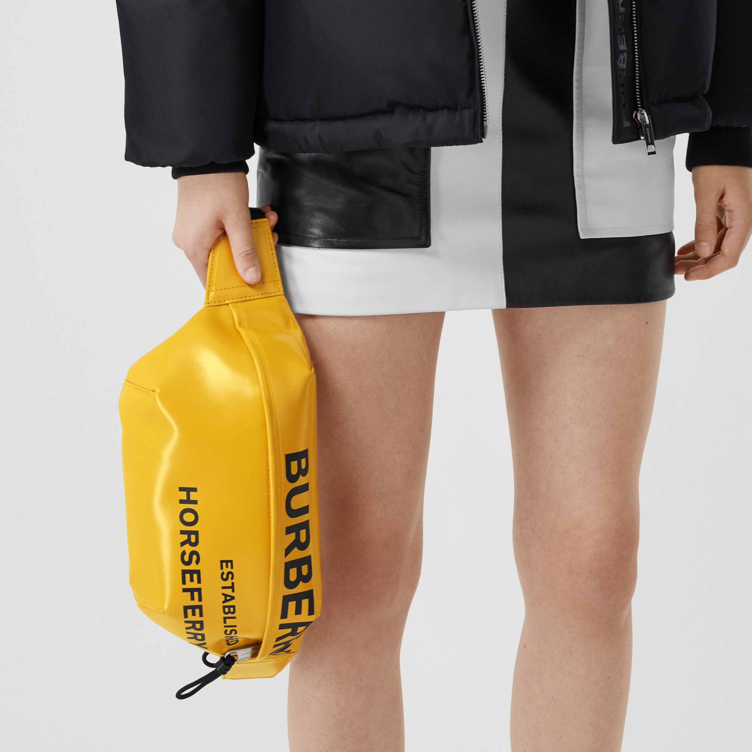 Medium Horseferry Print Bum Bag in Yellow | Burberry - 3
