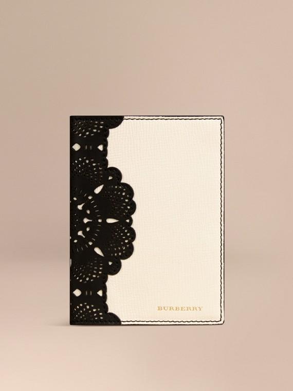 Laser-cut Lace Leather Passport Holder