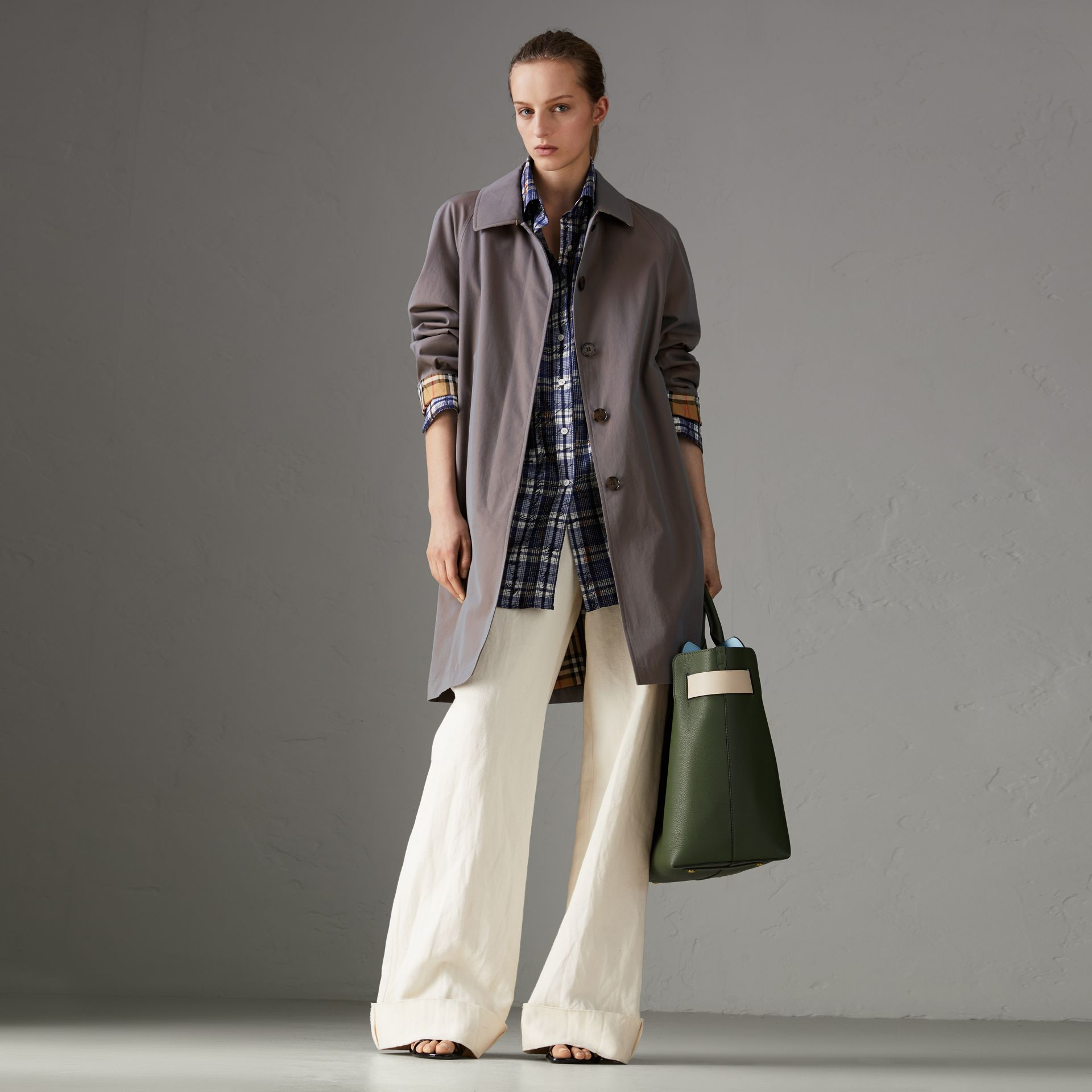 The Camden Car Coat in Lilac Grey - Women | Burberry - gallery image 0