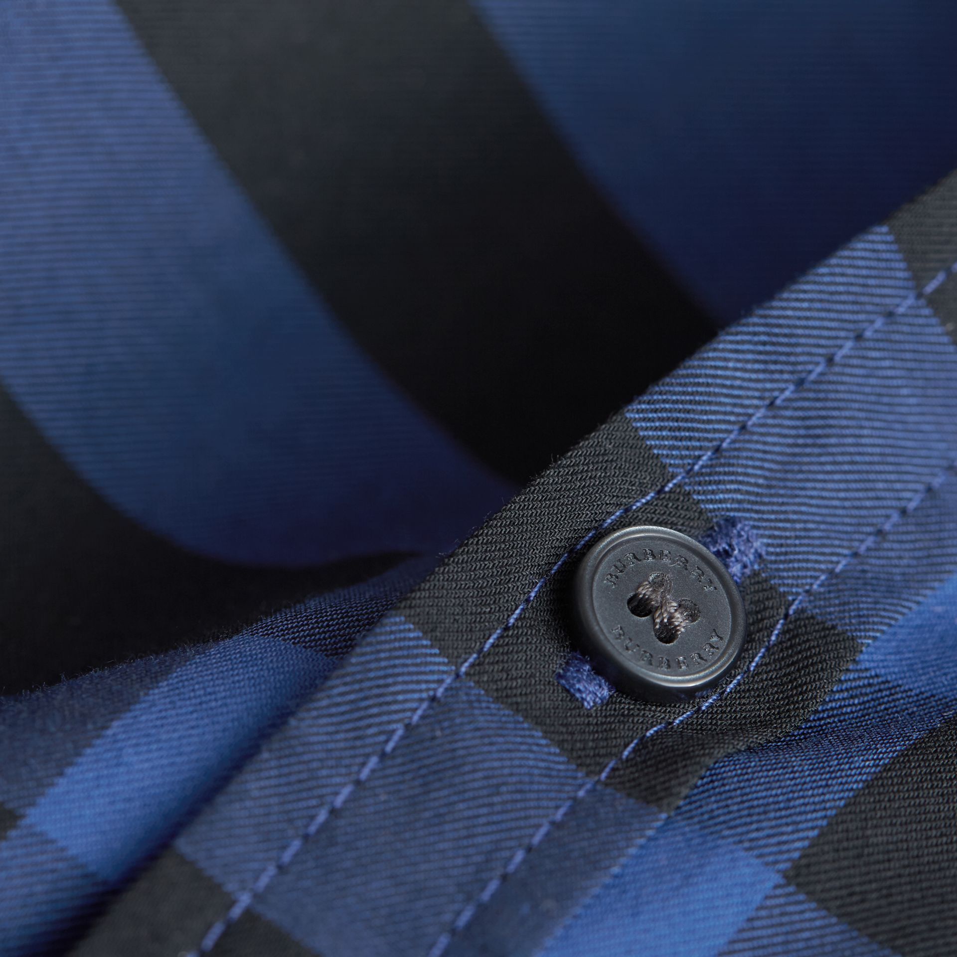 Check Cotton Button-Down Shirt in Brilliant Blue - Boy | Burberry - gallery image 1