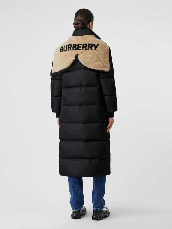 Logo Detail Puffer Coat in Black - Women | Burberry - cell image 2