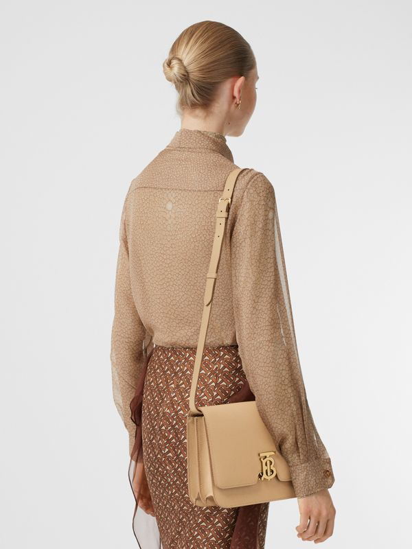 Medium Grainy Leather TB Bag in Archive Beige - Women | Burberry Australia - cell image 2
