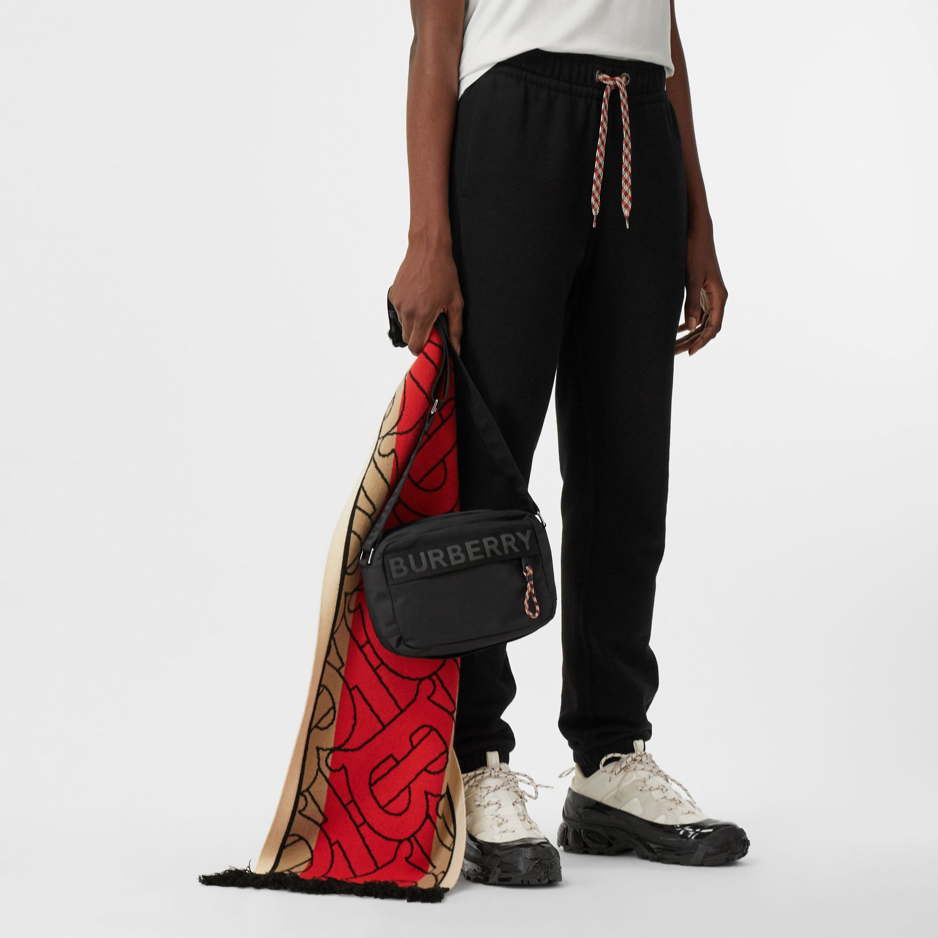 Logo Detail Crossbody Bag in Black - Men | Burberry - gallery image 2