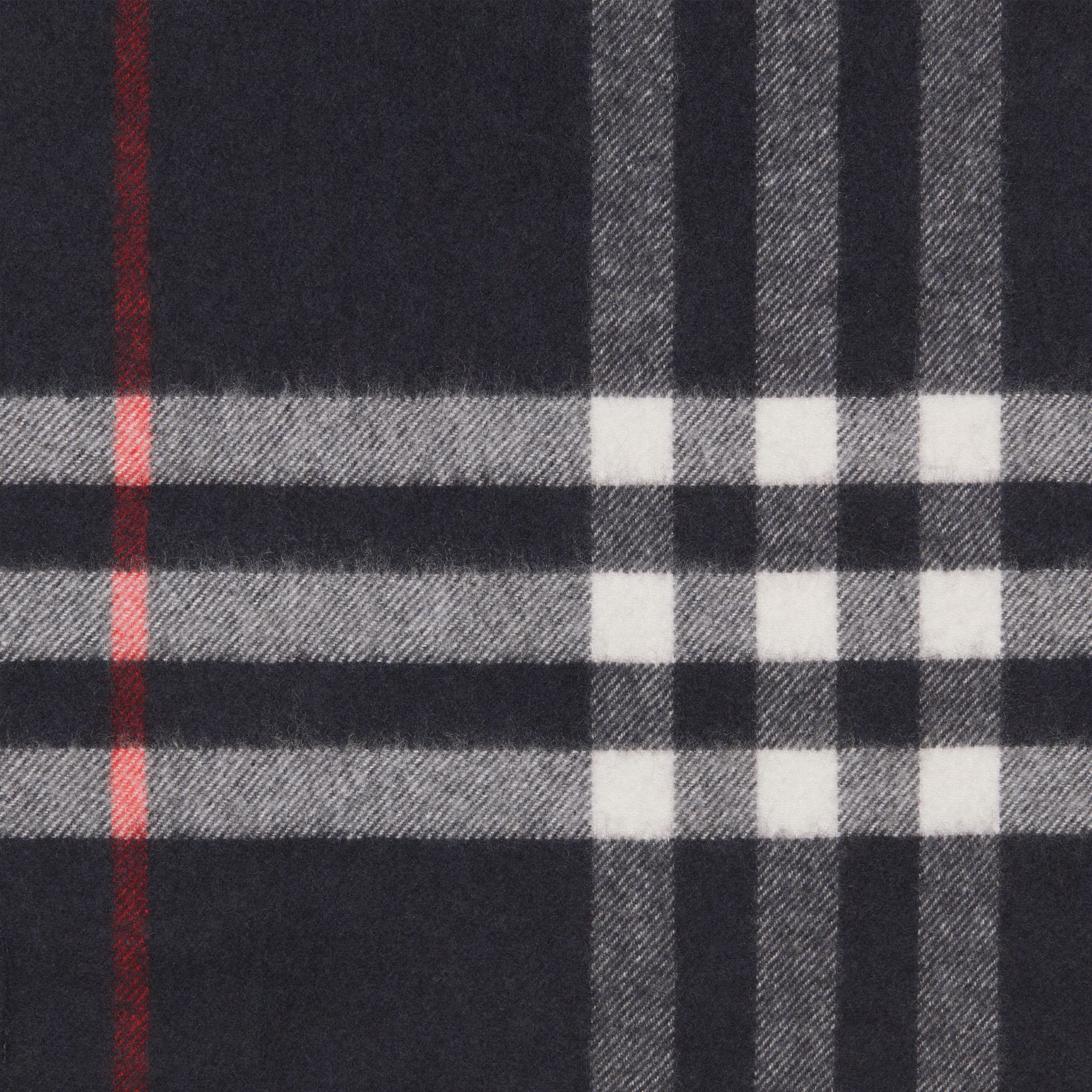 The Classic Check Cashmere Scarf in Navy | Burberry Australia - gallery image 1