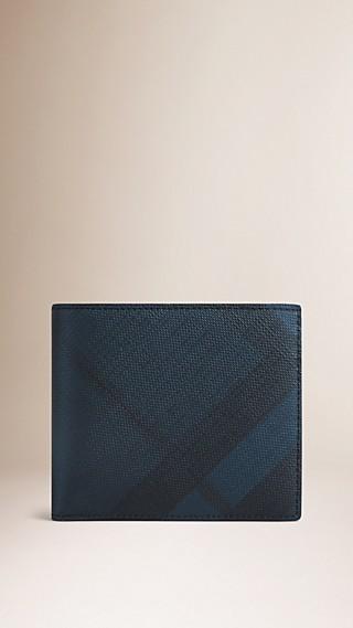 London Check Folding Wallet