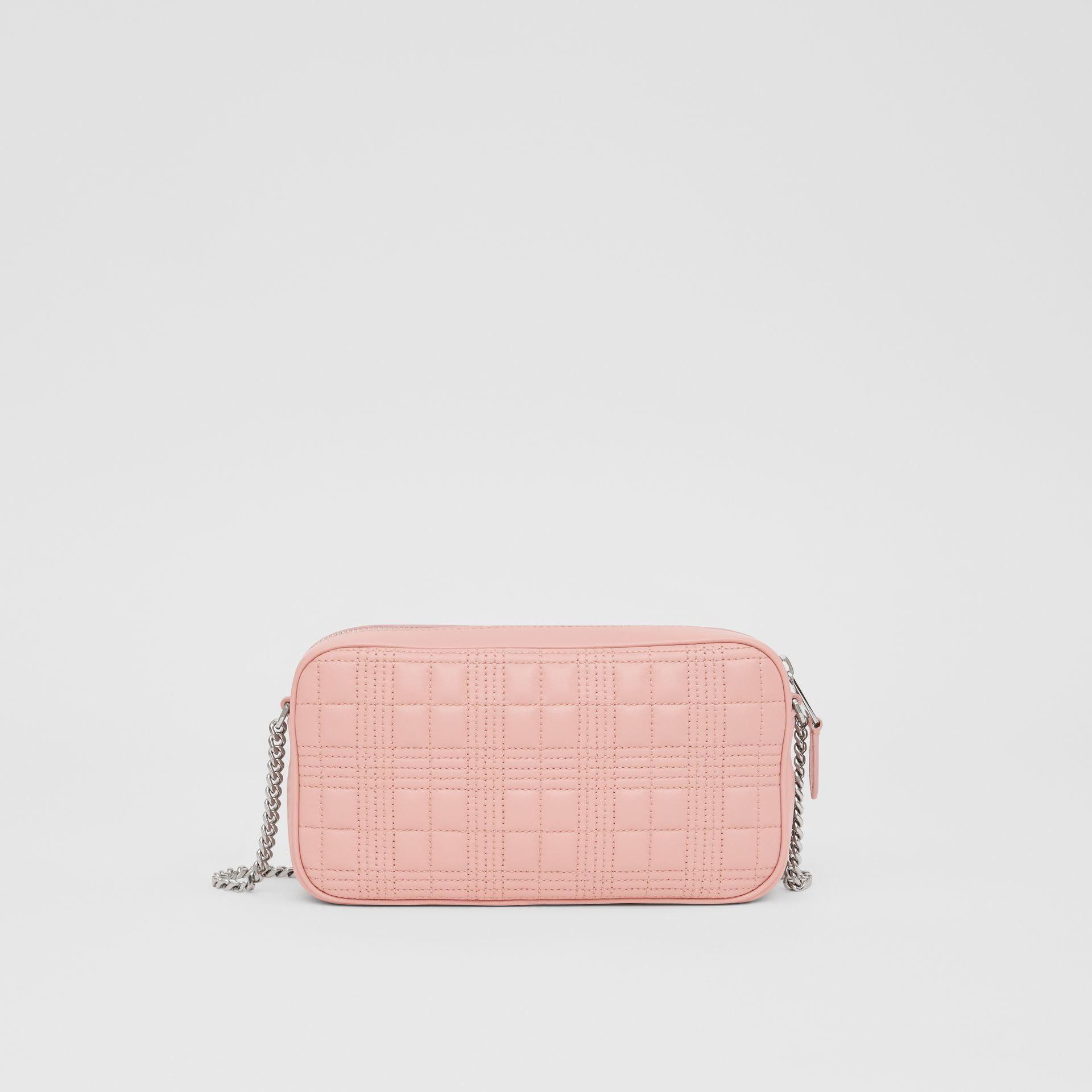 Quilted Lambskin Camera Bag in Blush Pink - Women | Burberry - gallery image 5