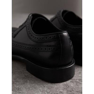 Burberry - Chaussures richelieu de style derby en cuir - 4