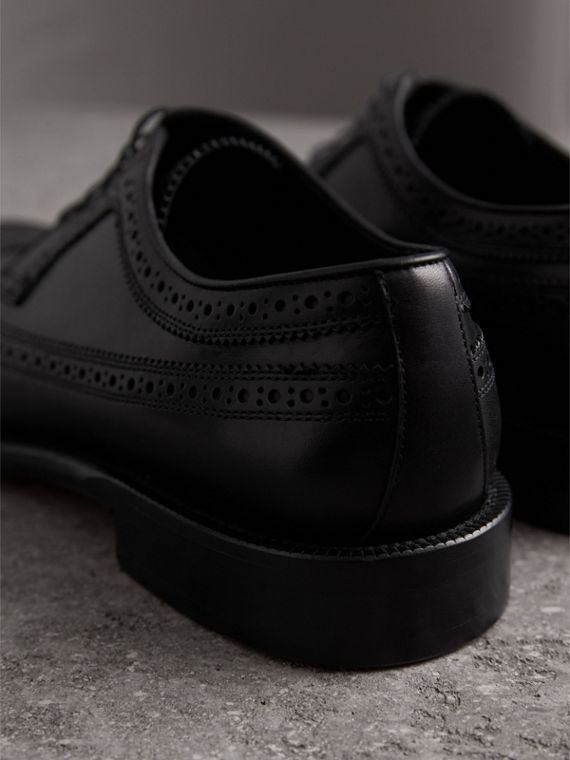 Leather Derby Brogues in Black - Men | Burberry Australia - cell image 3