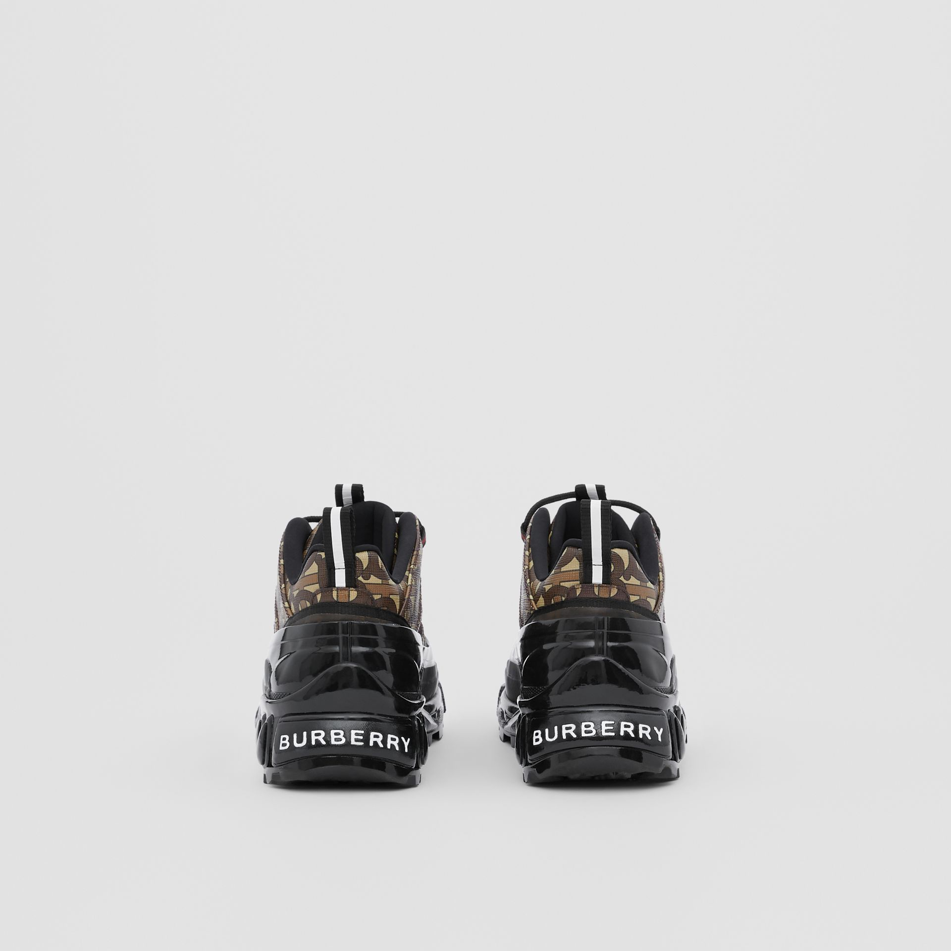 Monogram E-canvas Arthur Sneakers in Bridle Brown | Burberry - gallery image 3