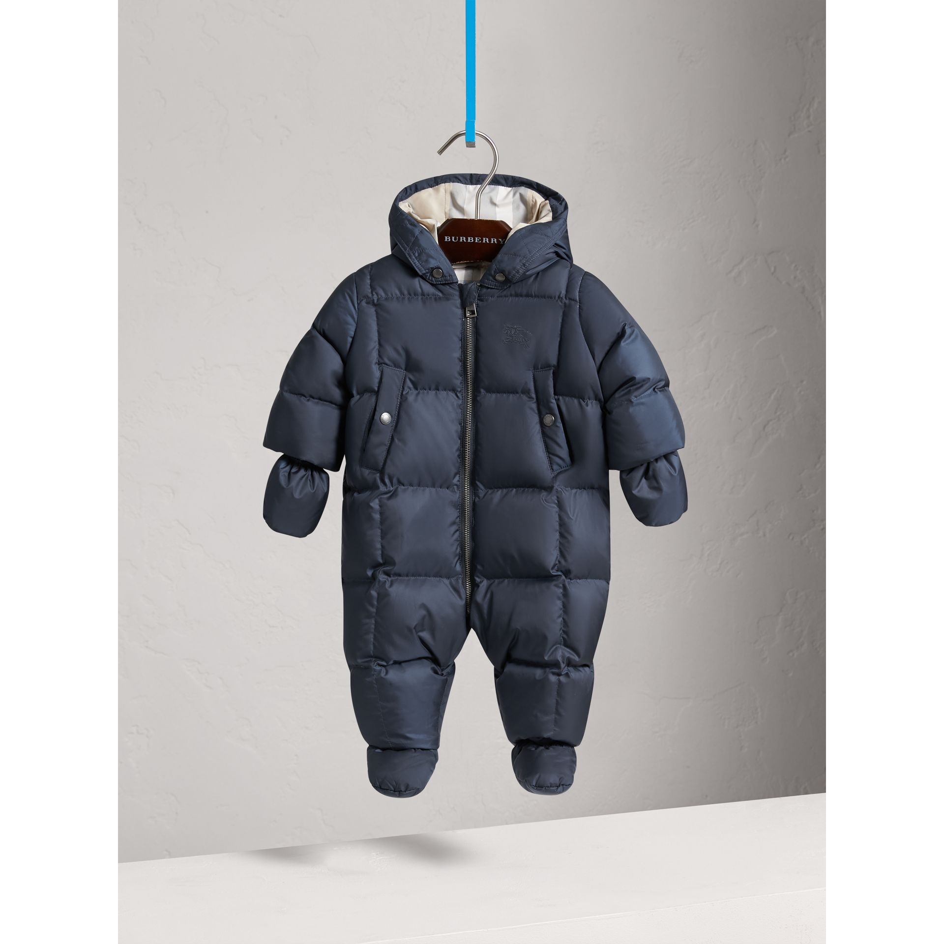 Down-filled Puffer Suit in Navy | Burberry United Kingdom - gallery image 2