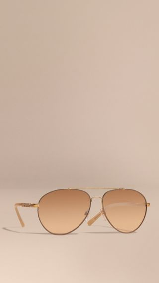 Check Detail Aviator Sunglasses