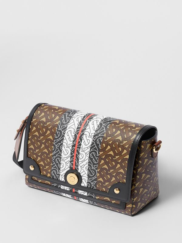 Monogram Stripe E-canvas Note Crossbody Bag in Bridle Brown - Women | Burberry - cell image 3