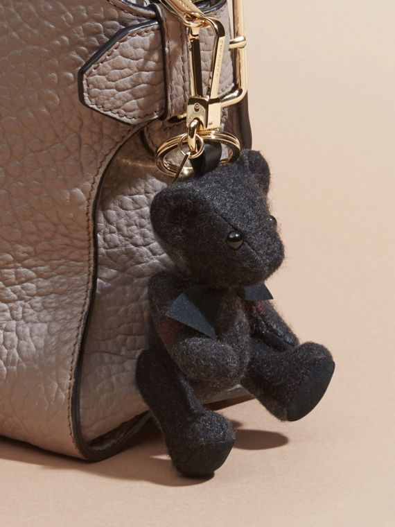Charcoal Thomas Bear Charm in Check Cashmere Charcoal - cell image 2