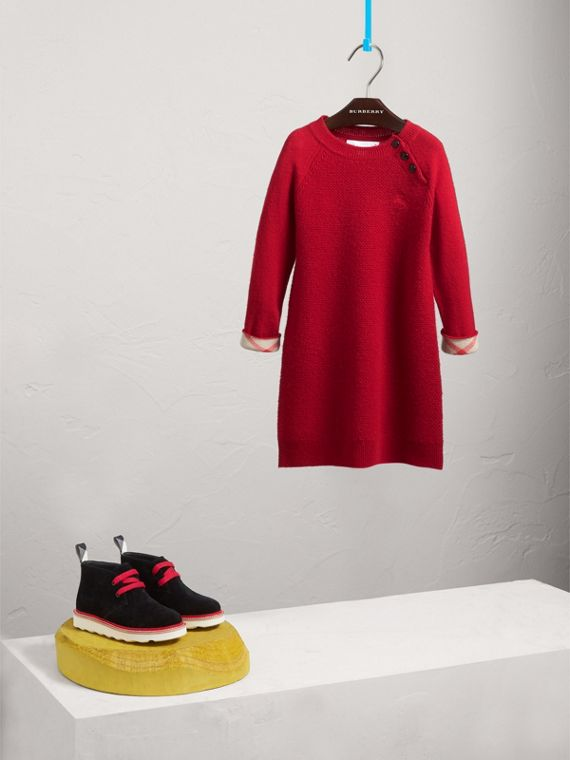 Cashmere Sweater Dress in Parade Red