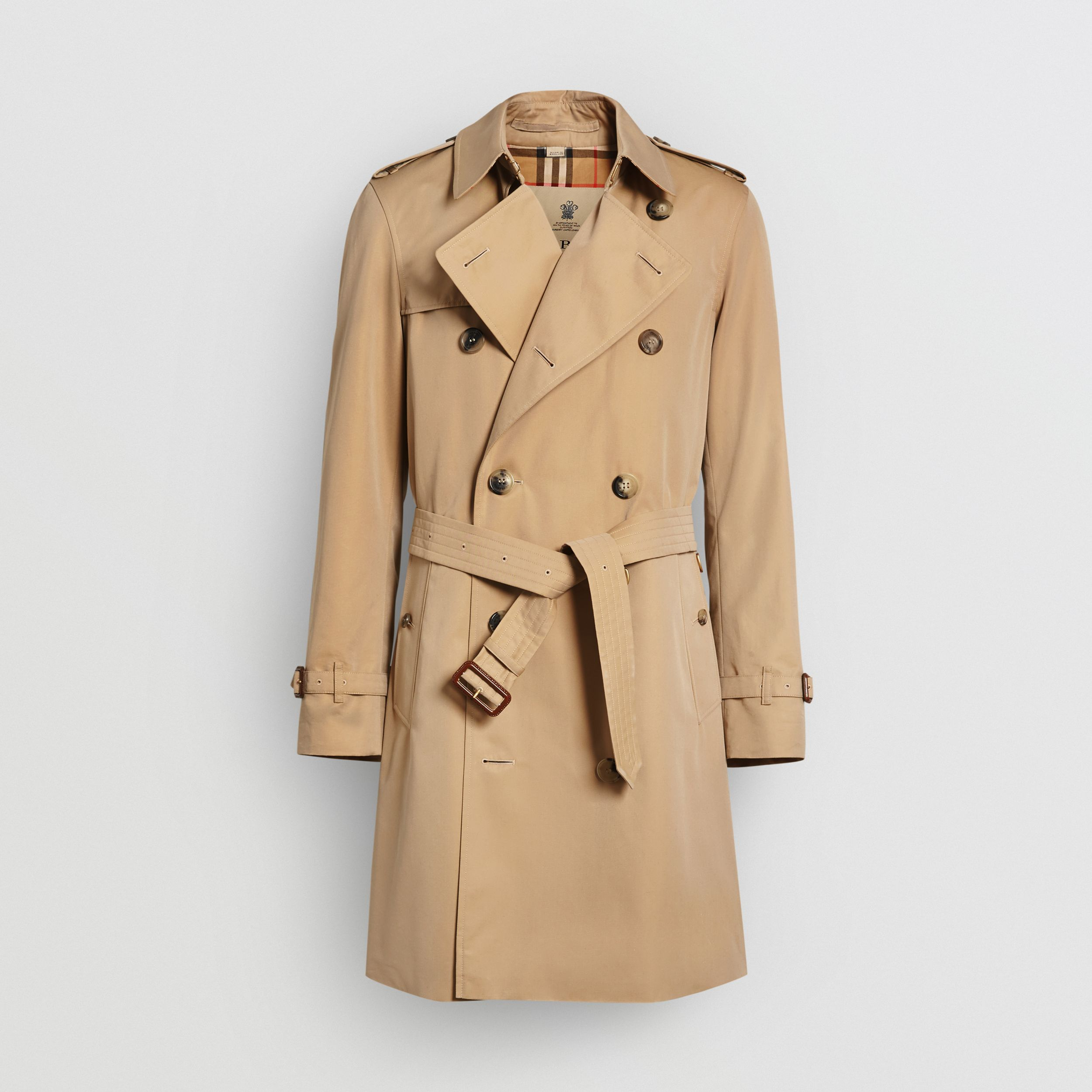 The Mid-length Chelsea Heritage Trench Coat in Honey - Men | Burberry - 4
