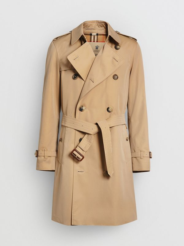 The Mid-length Chelsea Heritage Trench Coat in Honey - Men | Burberry Australia - cell image 3