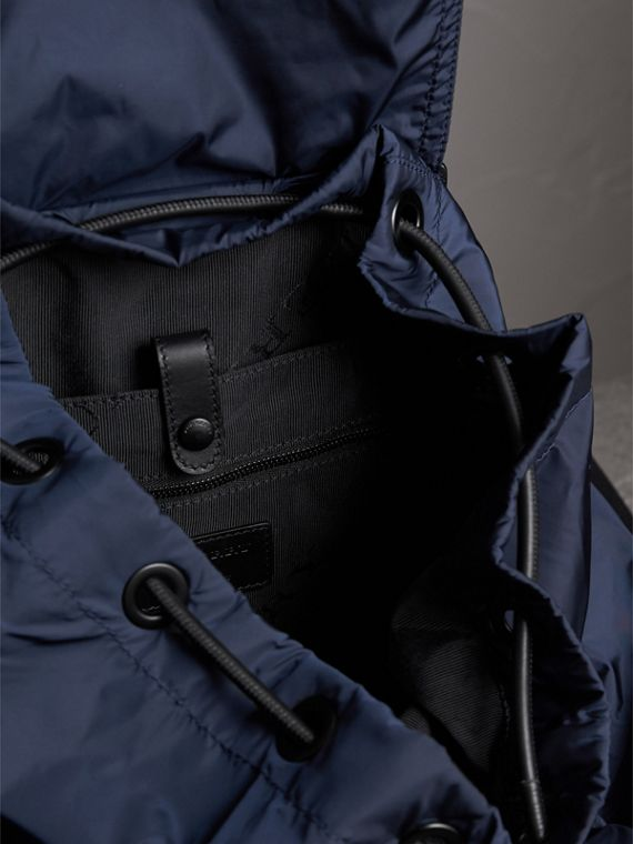 The Large Rucksack in Technical Nylon and Leather in Ink Blue - Men | Burberry United States - cell image 3