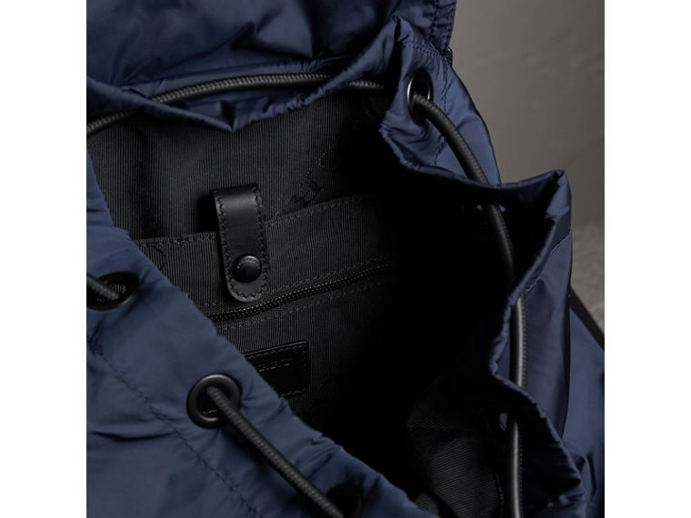 The Large Rucksack in Technical Nylon and Leather in Ink Blue - Men | Burberry - cell image 4
