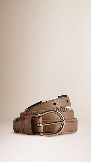 House Check and Bridle Leather Belt