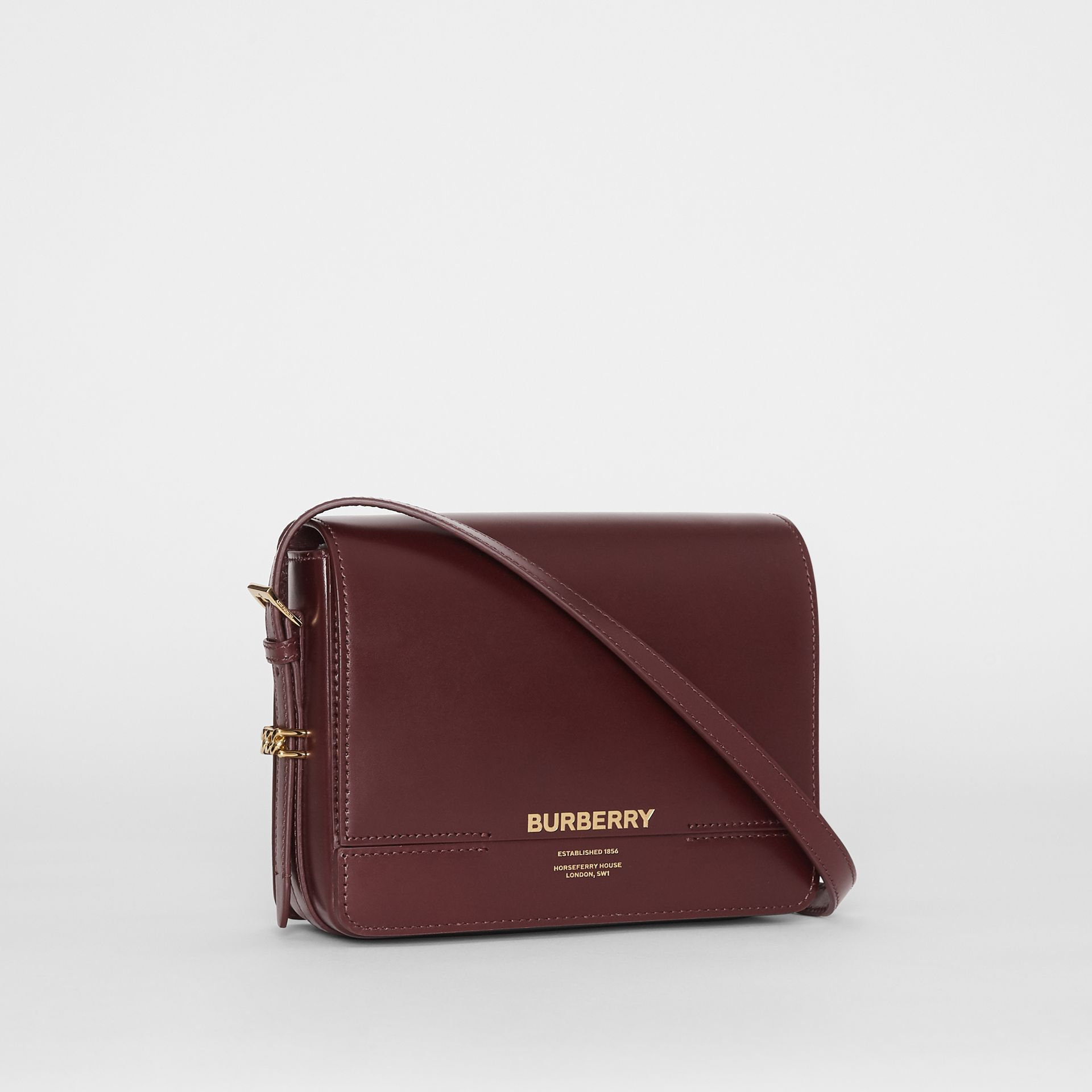 Small Leather Grace Bag in Oxblood - Women | Burberry - gallery image 6