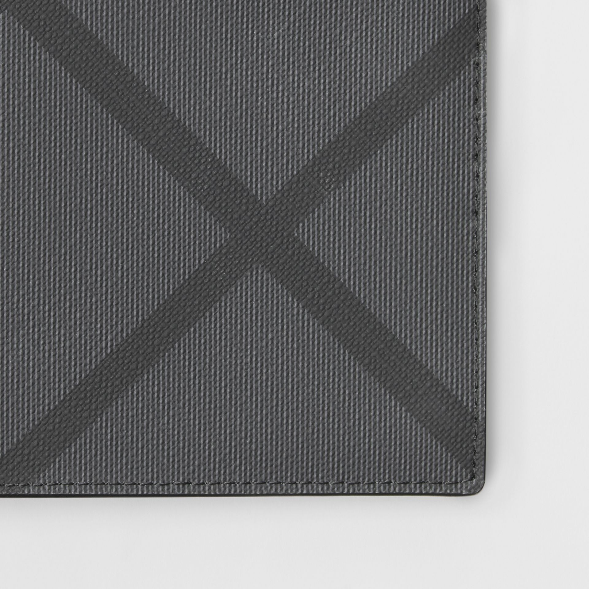 London Check ID Wallet in Charcoal/black - Men | Burberry United Kingdom - gallery image 1