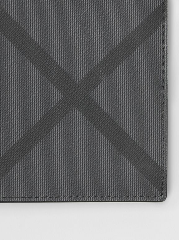 London Check ID Wallet in Charcoal/black - Men | Burberry United Kingdom - cell image 1
