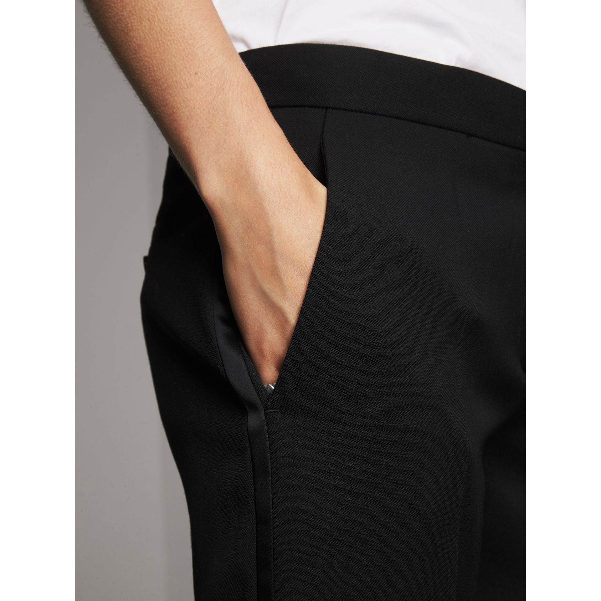 Wool Tailored Trousers in Black - Women | Burberry Canada - gallery image 1