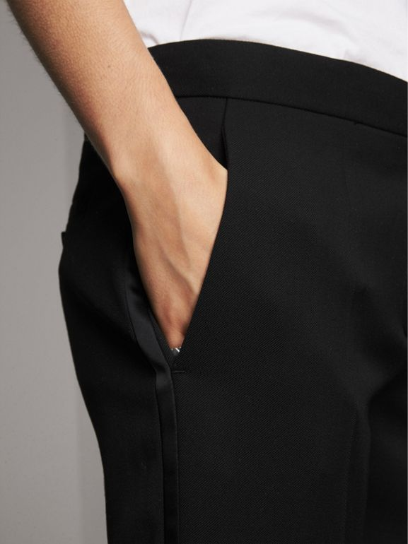 Wool Tailored Trousers in Black - Women | Burberry - cell image 1