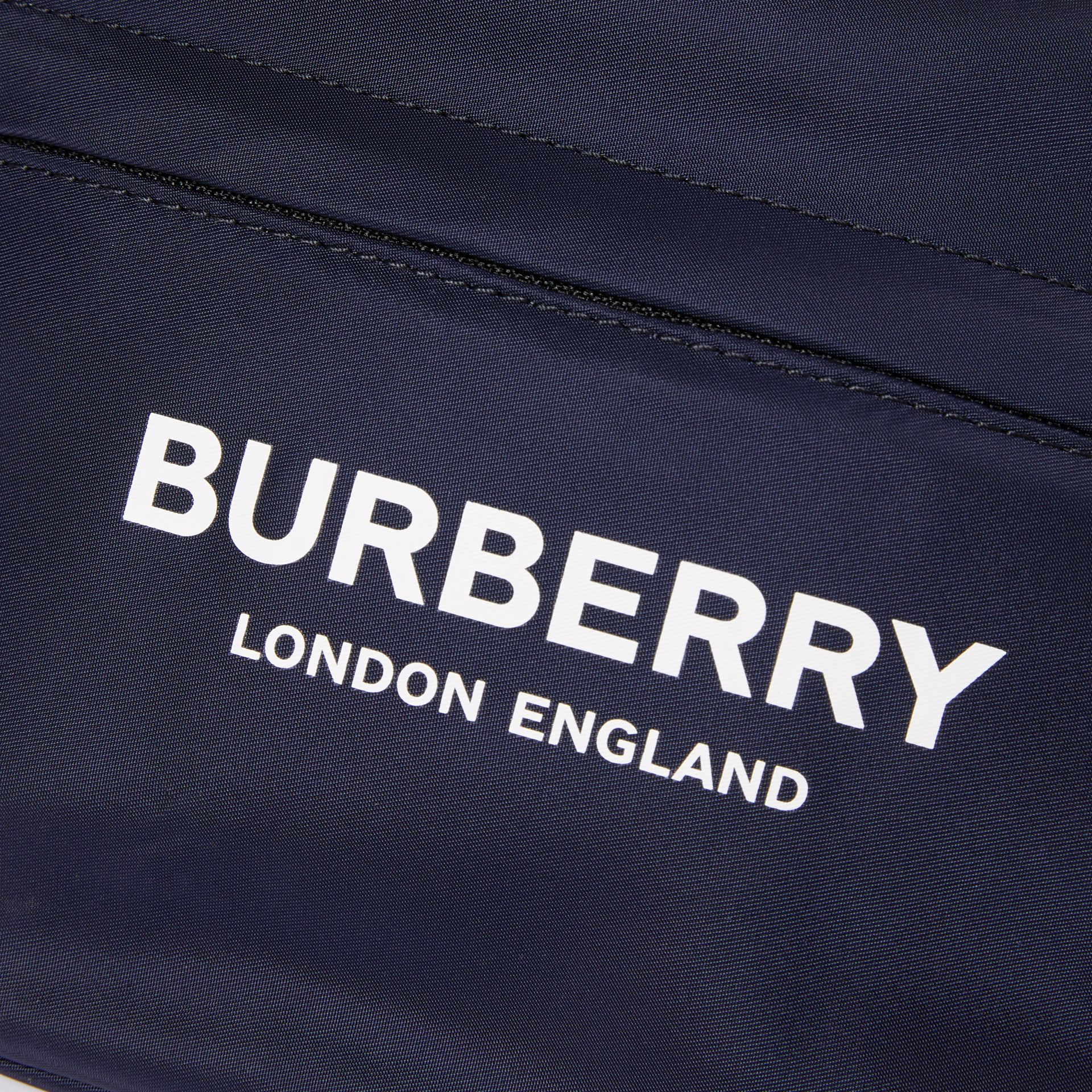 Logo Print Two-tone Convertible Bum Bag in Regency Blue - Children | Burberry - gallery image 1