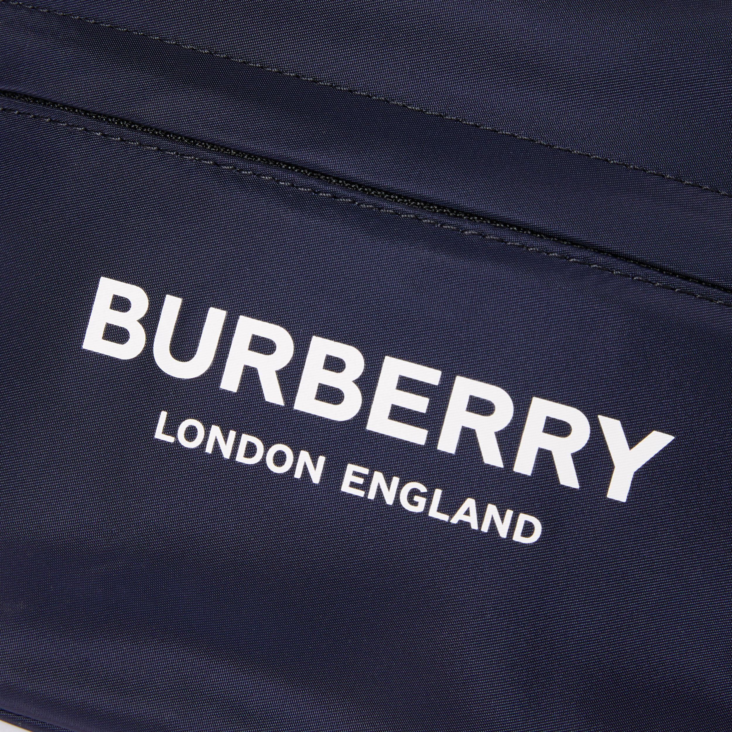Logo Print Two-tone Convertible Bum Bag in Regency Blue | Burberry - 2