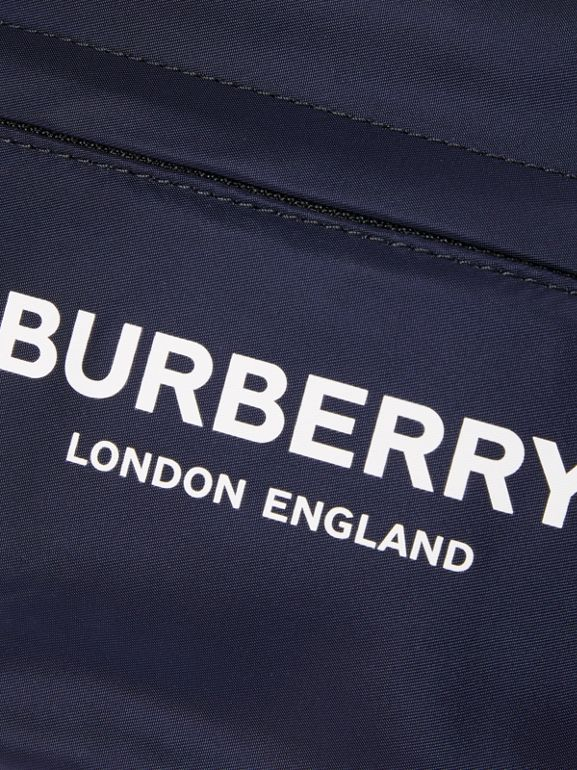Logo Print Two-tone Convertible Bum Bag in Regency Blue - Children | Burberry United Kingdom - cell image 1