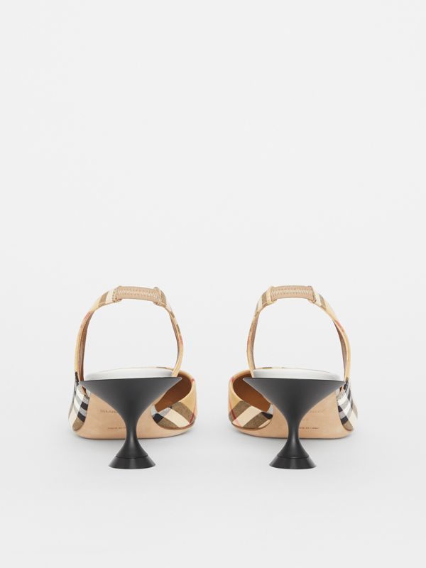 Vintage Check Slingback Pumps in Archive Beige - Women | Burberry Singapore - cell image 3