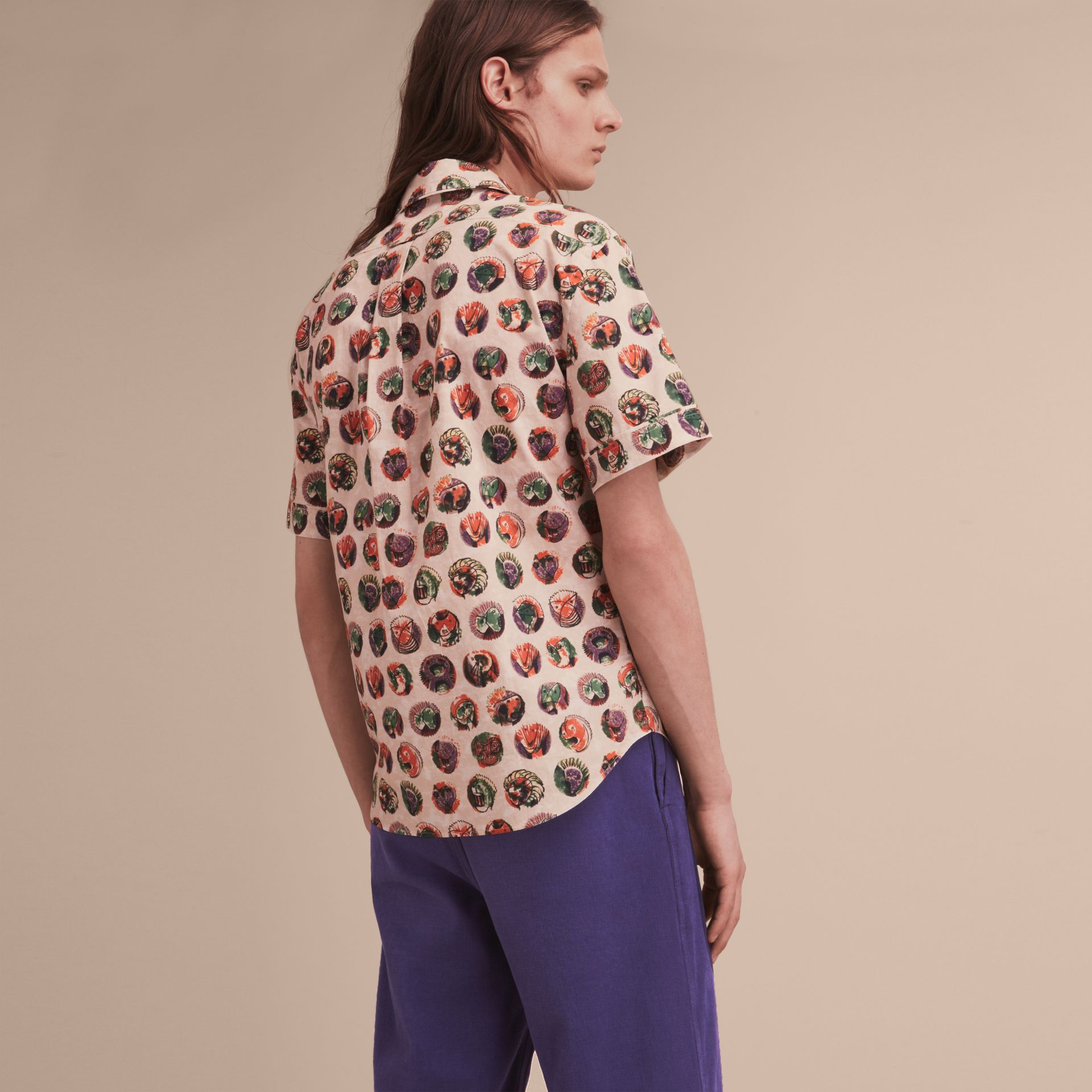 Short-sleeve Pallas Heads Print Cotton Shirt - gallery image 3