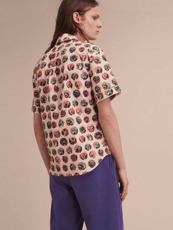 Short-sleeve Pallas Heads Print Cotton Shirt - cell image 2