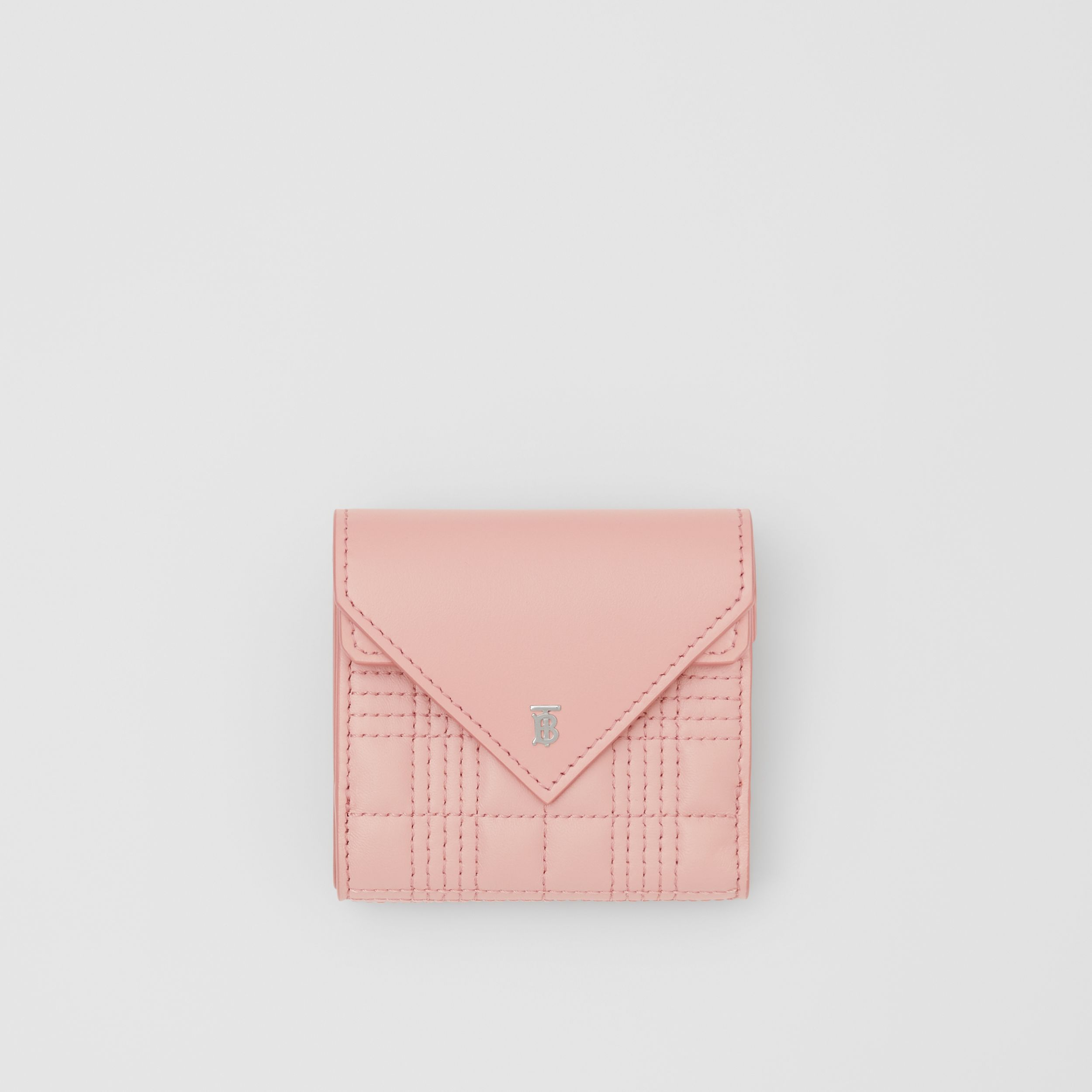 Quilted Lambskin Folding Wallet in Blush Pink - Women | Burberry Hong Kong S.A.R. - 1