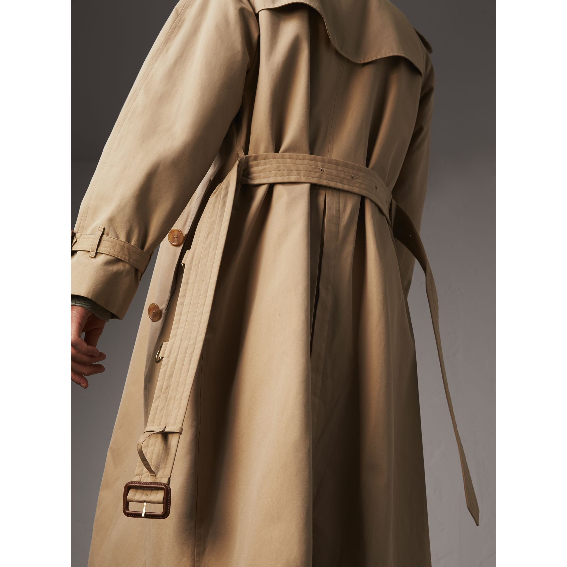 Tape Detail Cotton Gabardine Trench Coat in Honey - Men | Burberry - gallery image 5