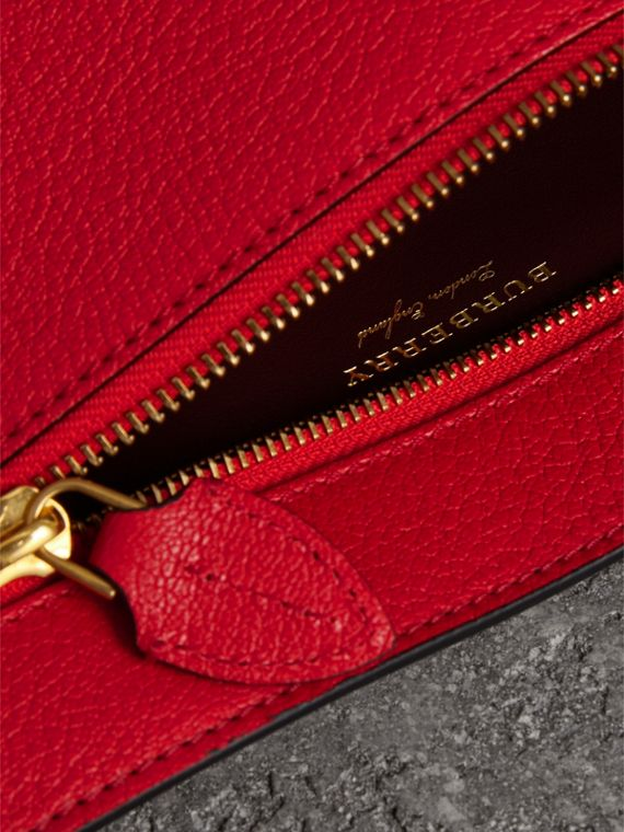 Grainy Leather Wristlet Clutch in Bright Red - Women | Burberry - cell image 3