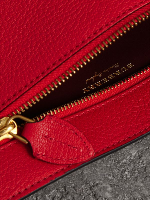 Grainy Leather Wristlet Clutch in Bright Red - Women | Burberry Australia - cell image 3