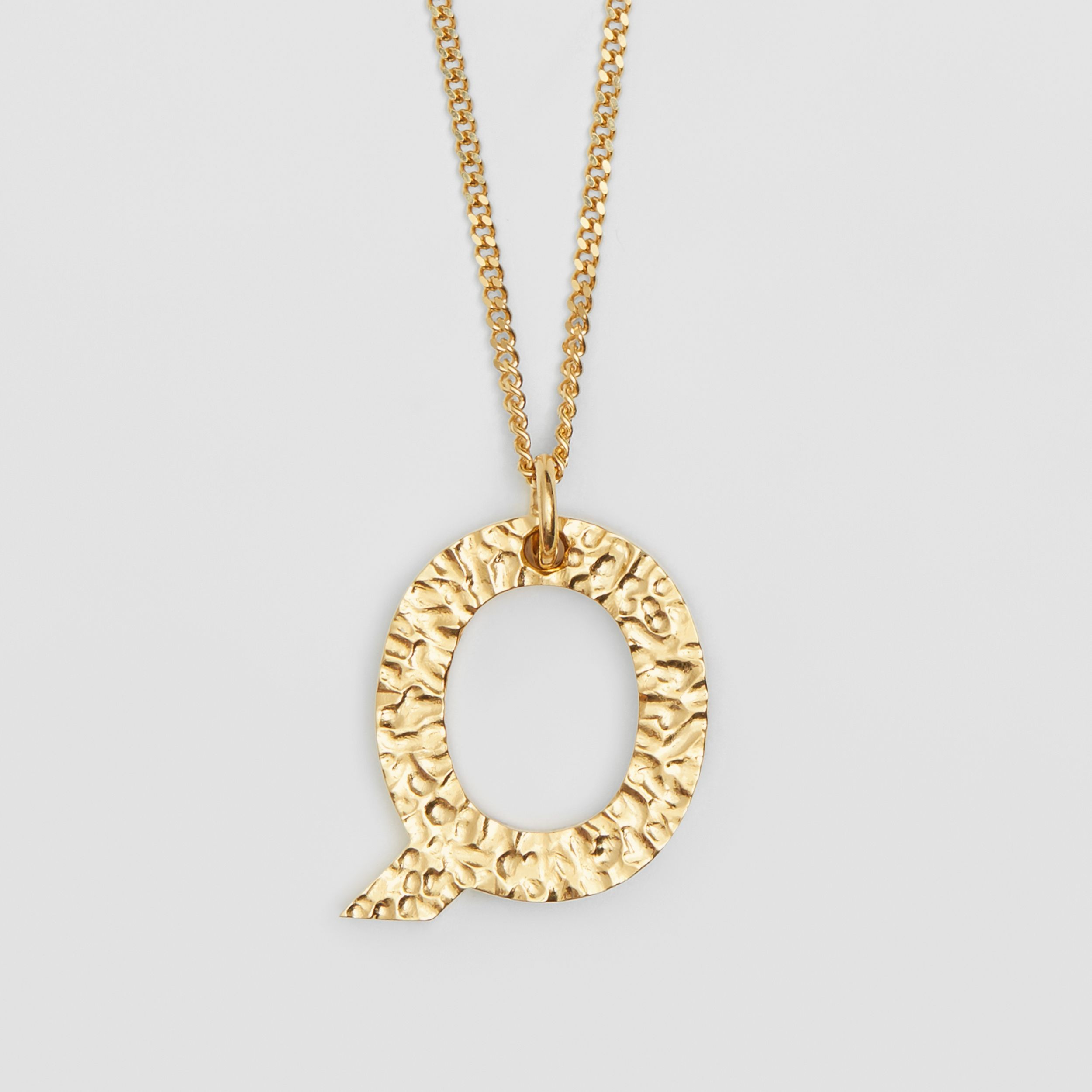 'Q' Alphabet Charm Gold-plated Necklace in Light - Women | Burberry - 3