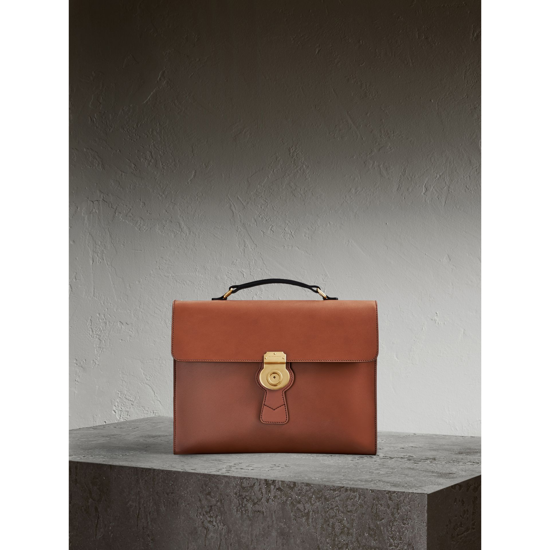 The Large DK88 Document Case in Tan - gallery image 1