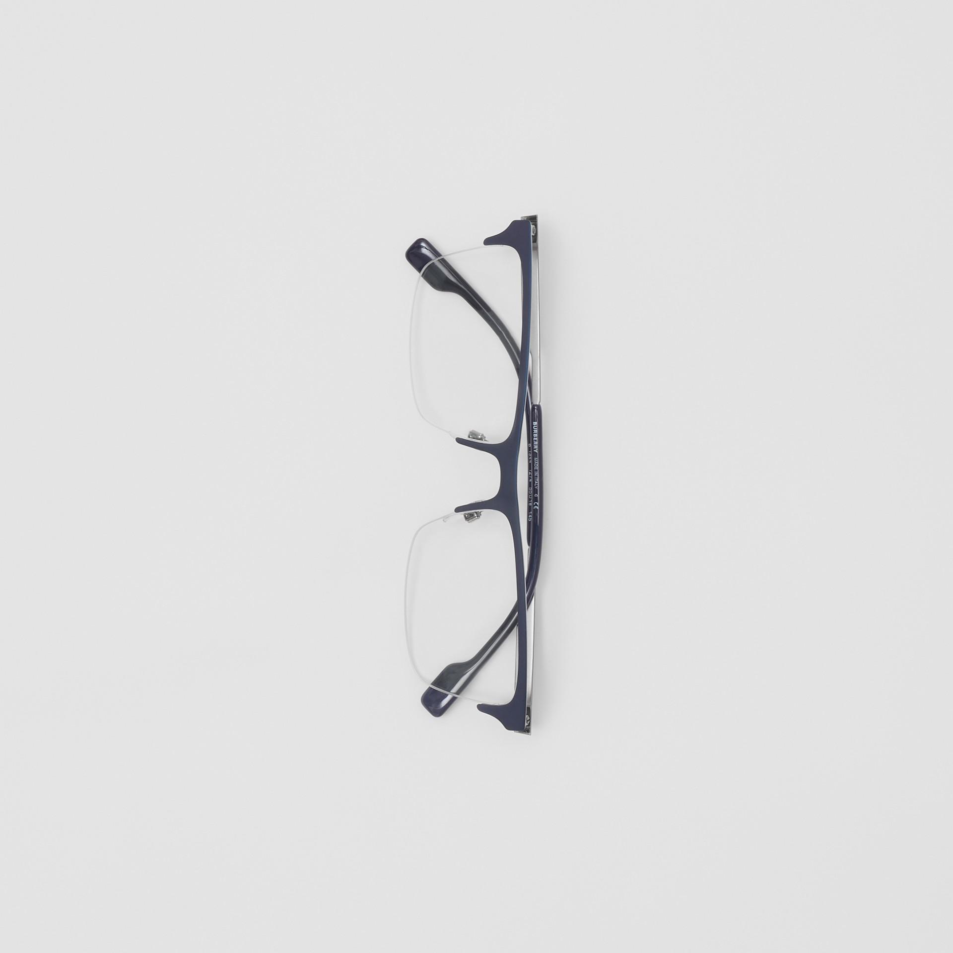 Rectangular Optical Frames in Deep Blue - Men | Burberry - gallery image 3