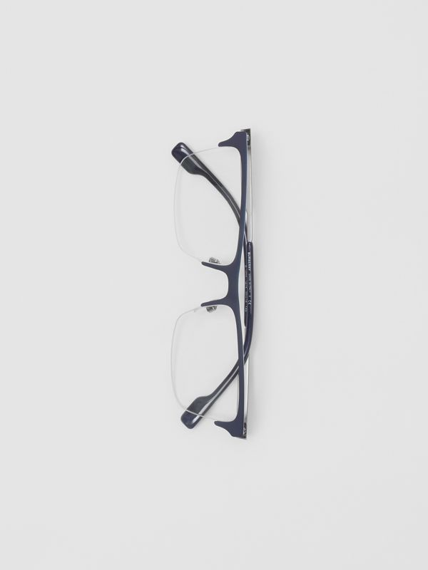 Rectangular Optical Frames in Deep Blue - Men | Burberry - cell image 3